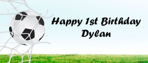 Soccer Birthday Party Banner.