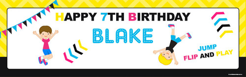 Bounce Birthday Party Banner.