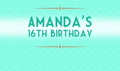 Event Ticket Birthday Party Banner.
