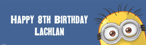 Indespicable inspired minion birthday party banner.