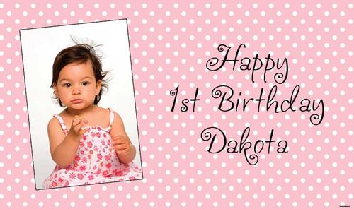 Pink Polka Dot Birthday Banner
