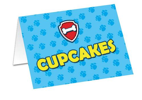 Paw Patrol Birthday Buffet Cards