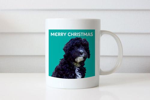 Dog or Puppy Theme Personalised Photo Coffee Mug - Custom Puppy or Dog Photo Coffee Cup