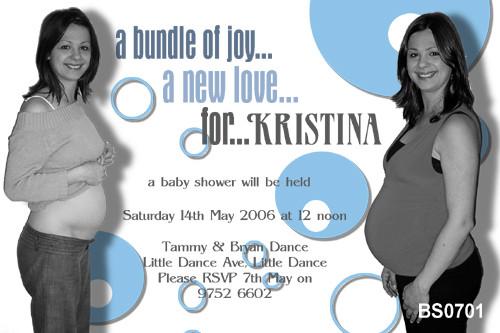 Custom photo baby shower invitations