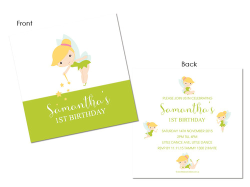 Kids Birthday Invitations - Tinkerbell