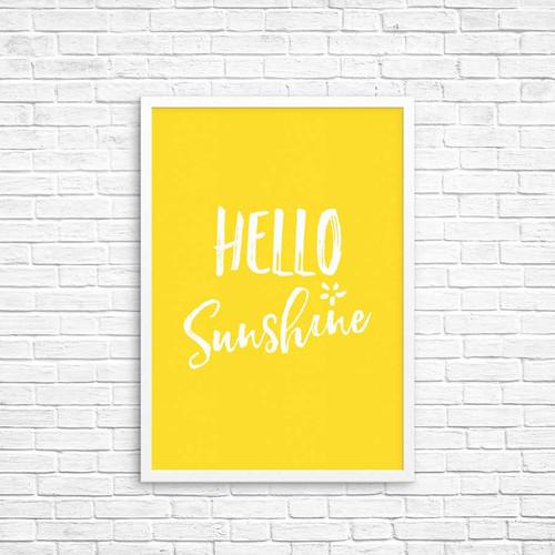 Hello Sunshine Wall Art Deco Print