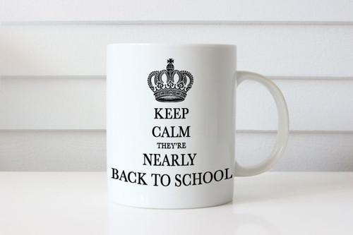Keep Calm Almost Back to School Coffee Mug - Keep Calm Almost Back At School Coffee Cup