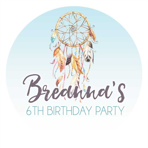 Dreamcatcher party Labels & Stickers
