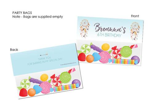 Dreamcatcher party favour bags