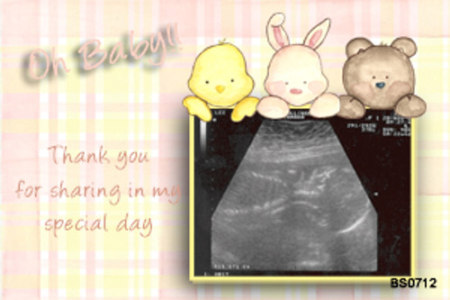 Custom baby shower invitations with ultrasound photo. Order online in Australia
