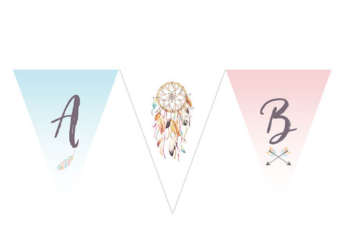 Dreamcatcher party flags bunting