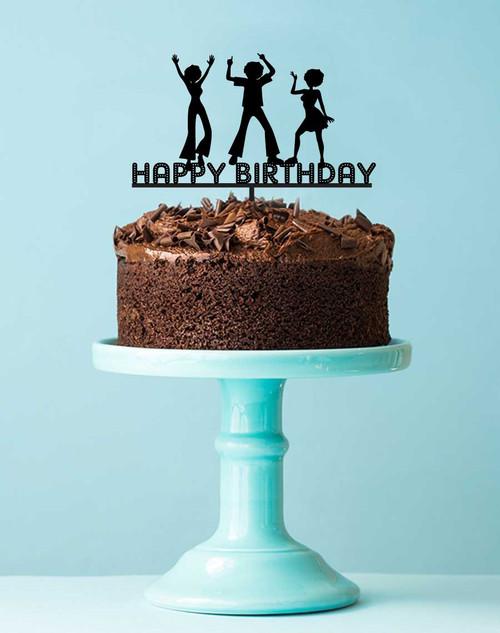 Disco Birthday Party Cake Topper Decoration