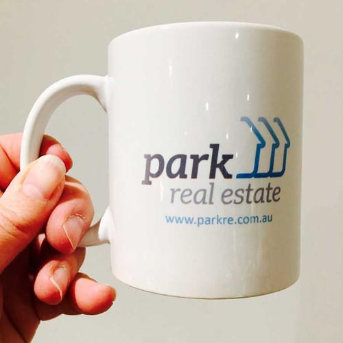 Custom Corporate Logo Coffee Mug  - Custom Logo Merchandise or Staff Gift Coffee Cups