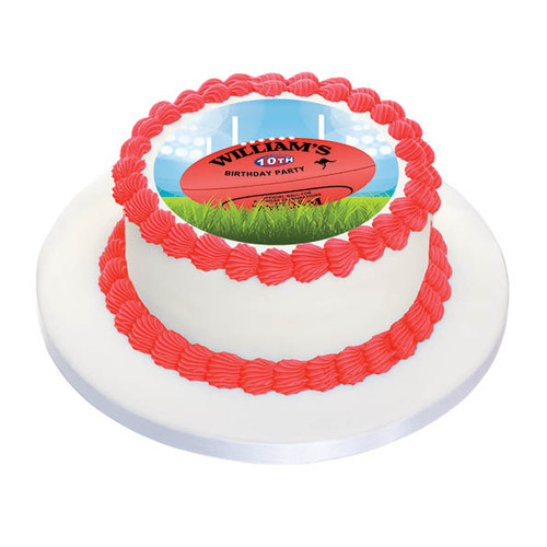 AFL Football Cake Icing Edible Image Frosting Sheet. Printed in Australia