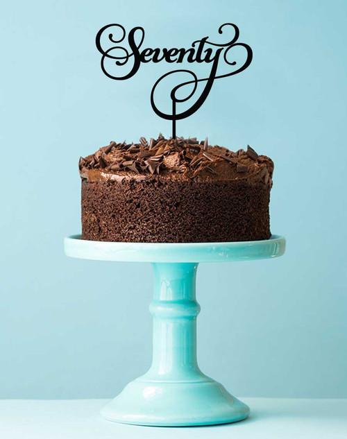 70th Seventieth Birthday Cake Topper or Cake Decoration