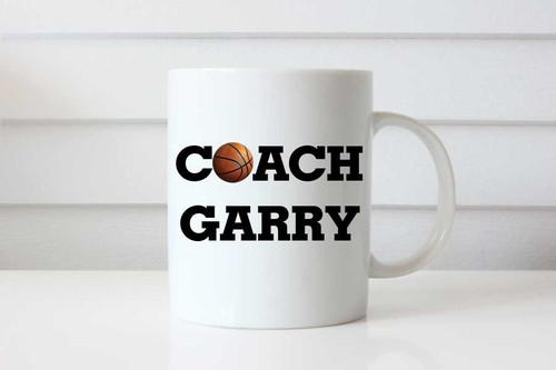 Basketball Coach Gift Personalised Coffee Mug - Basketball Coach Custom Gift Coffee Cup