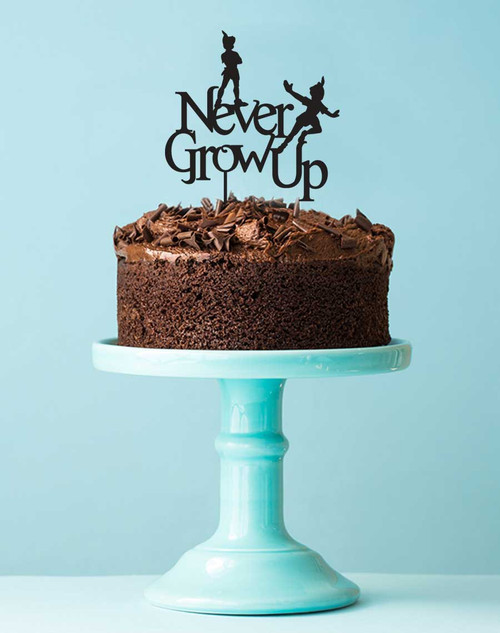 Peter Pan Never Grow Up Birthday Cake Topper - Peter Pan Cake Decoration Laser Cut in Australia