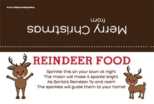 Christmas Bag Topper - Reindeer Food