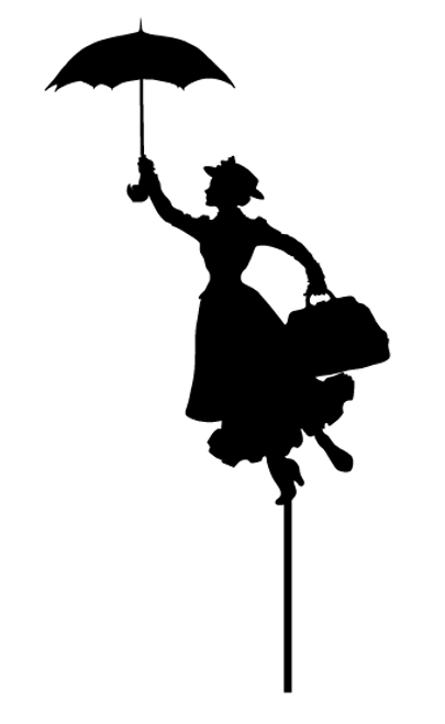 Mary Poppins Cake Topper. Made in Australia
