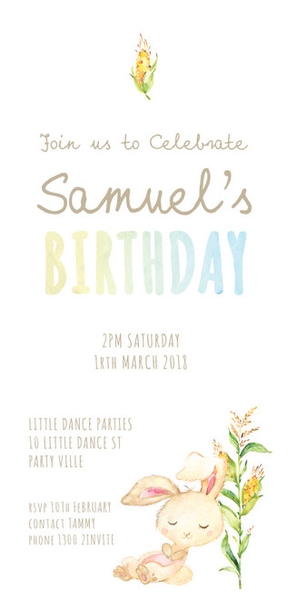 Birthday Invitations - Farm Animals