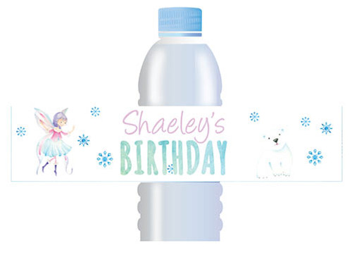 Fairy Leaves personalised water bottle labels
