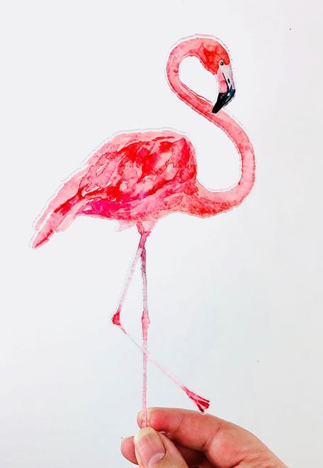 Flamingo Acrylic Cake Topper