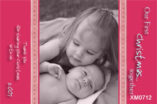 Christmas card using baby photo