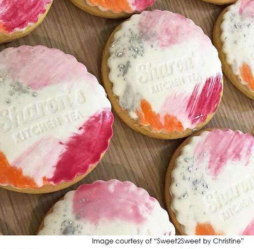 Custom Kitchen Tea Cookie Stamps Personalised With Name. Laser Engraved. Made in Melbourne Australia. Buy with AfterPay PayPal or Card