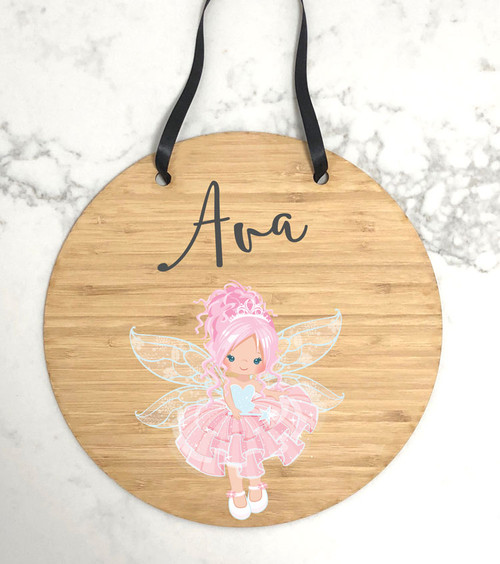 Personalised fairy themed door sign