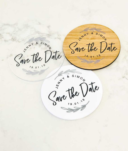 Save the Date Drink Coasters