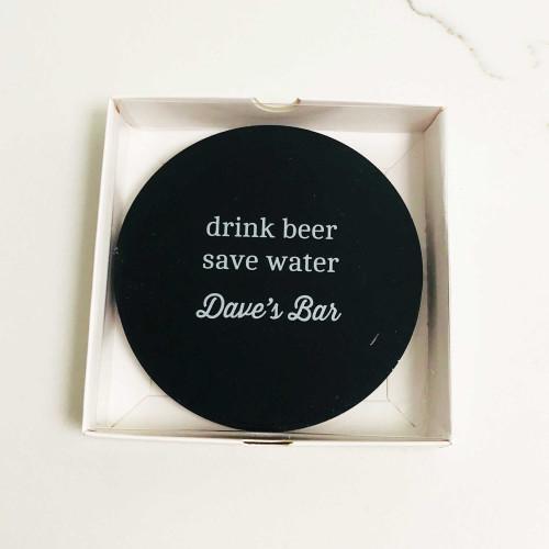 Drink Beer, Save Water novelty homewares coaster gifts