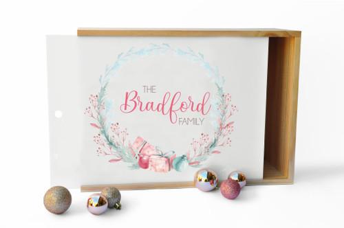Christmas Family Wreath custom box