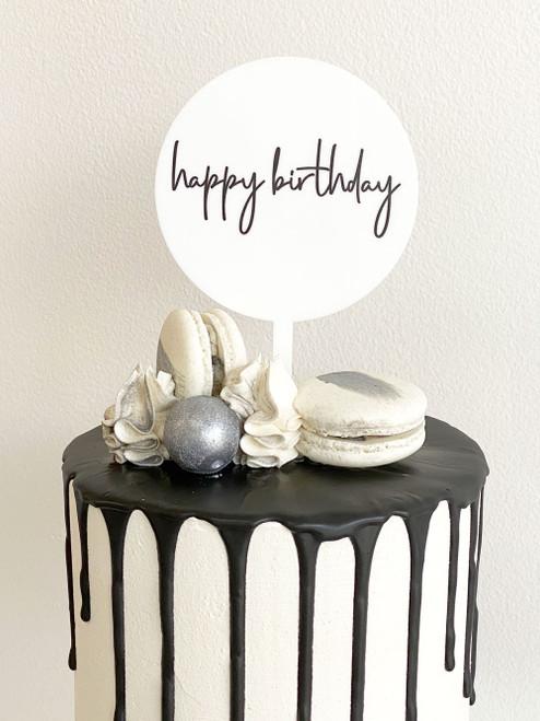 Mini Happy Birthday Cake Topper