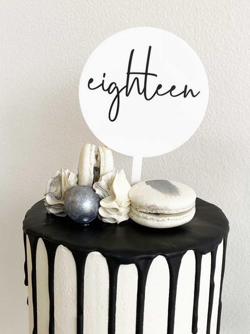 Mini Eighteen 18 Cake Topper