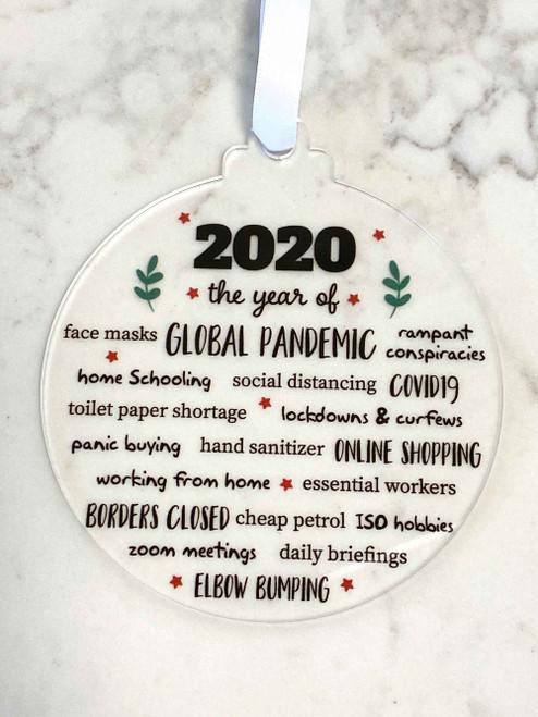 2020 Christmas Bauble - Lockdown 2020 Decoration