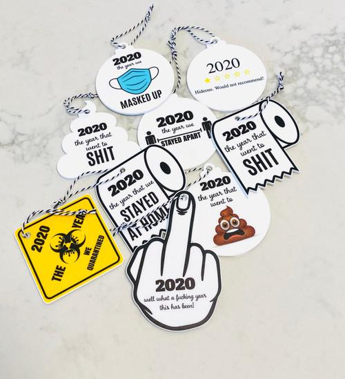 Set of 8 Pandemic Christmas 2020 Decoration set