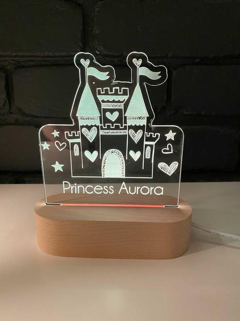 Personalised Princess Castle Nursery Light