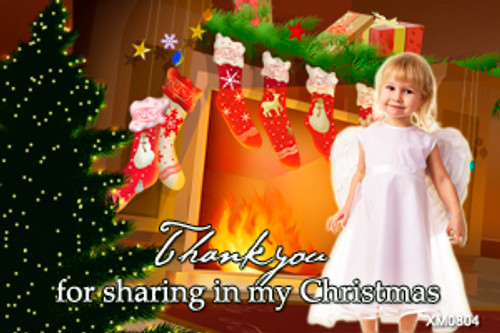 Christmas angel themed photo card