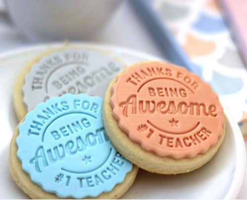 The Cookie Stamp Co - #1 Awesome Teacher cookie & fondant stamp