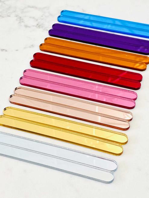 Personalised Acrylic Cake Popsicle Sticks