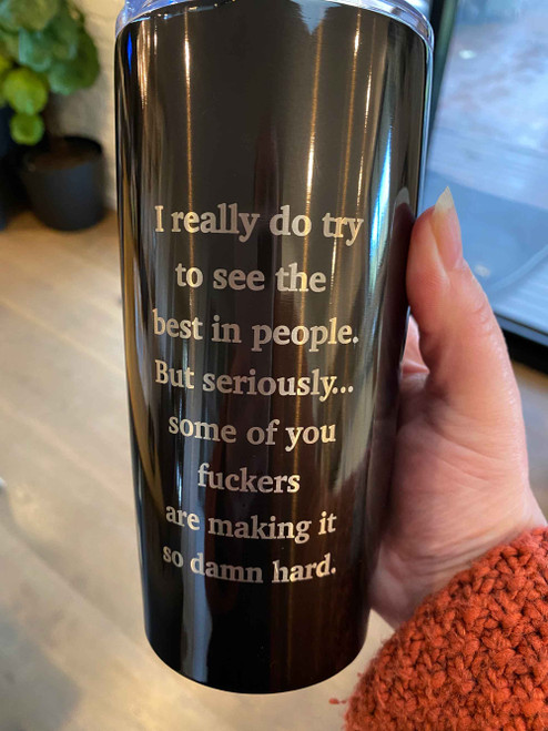 People are F*ckers Travel Mug - Rude engraved travel mug - buy online with Afterpay, Paypal and Card
