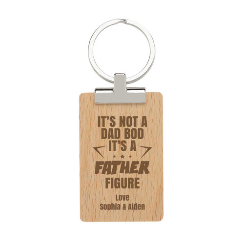 It's Not a Dad Bod, it's a Father Bod - Personalised Dads Day Keyring
