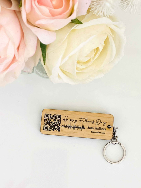 Your Voice message QR Code keyring for Fathers Day or Christmas present for Dad. Made in Australia. Buy with Afterpay