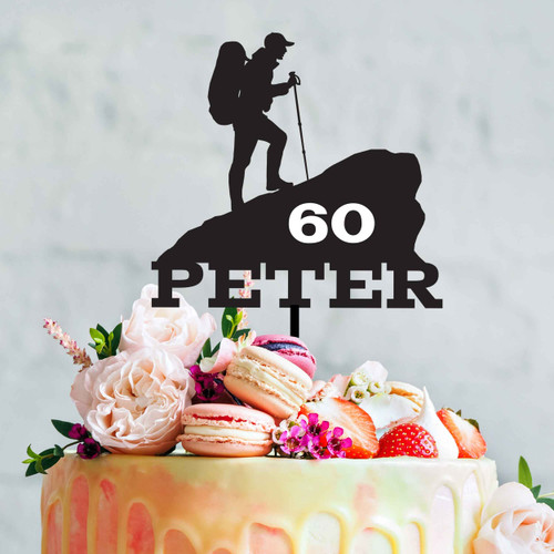 Hiking cake topper. Made in Melbourne, Australia. Buy with Afterpay, PayPal or Card.