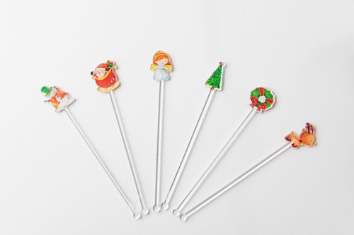 Christmas Themed Cocktail Accessory - Swizzle Stick.  Made in Australia.