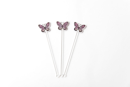 Butterfly Themed Cocktail Accessory - Swizzle Stick.  Made in Australia.