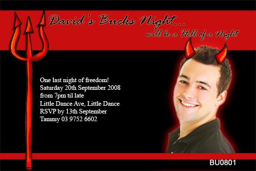 Devils Night Out Bucks Night Party Invitations
