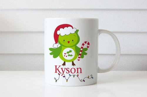 Christmas gift personalised mug with name. Australian online shop delivers to Melbourne, Sydney, Brisbane. Made in Melbourne, Australia