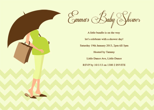 Green Mummy to Be Baby Shower Invitations