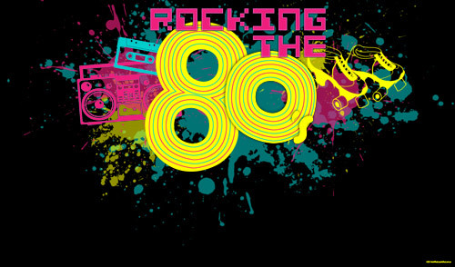Cheap 1980's themed party banner for sale online in Australia.